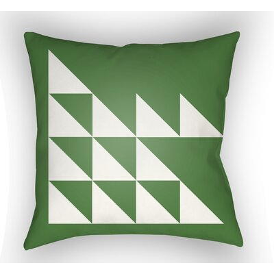Wakefield Geometric Square Indoor Throw Pillow Color: Green, Size: 22 H �x 22 W x 5 D