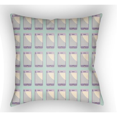 Cassidy Geometric Throw Pillow Size: 20 H x 20 W x 4 D, Color: Mint