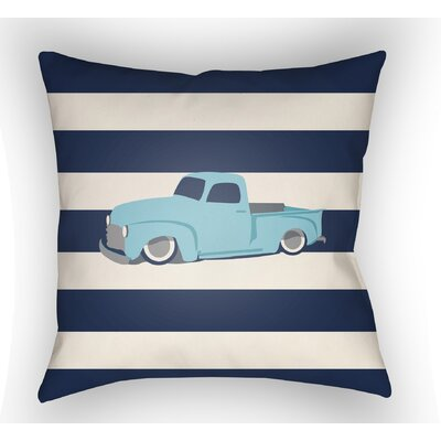Colinda Car Throw Pillow Size: 18 H x 18 W x 4 D, Color: Navy/White