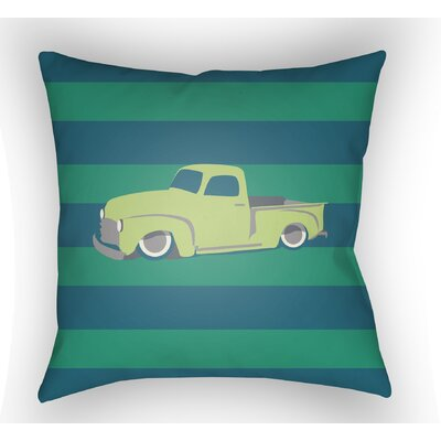 Colinda Car Throw Pillow Color: Green/Blue, Size: 20 H x 20 W x 4 D
