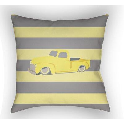 Colinda Car Throw Pillow Size: 18 H x 18 W x 4 D, Color: Yellow/Grey