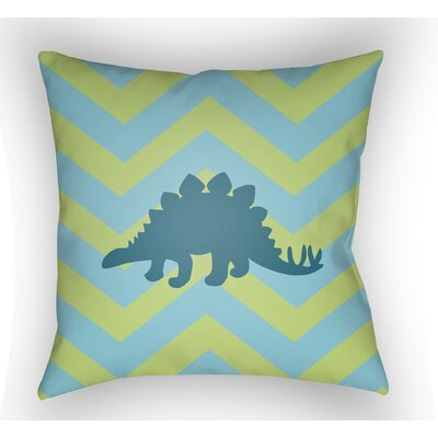 Colinda Dinosaur Throw Pillow Color: Lime/Blue, Size: 22 H �x 22 W x 5 D