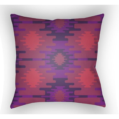 Adamson Square Throw Pillow Size: 18 H x 18 W x 3.5 D, Color: Purple