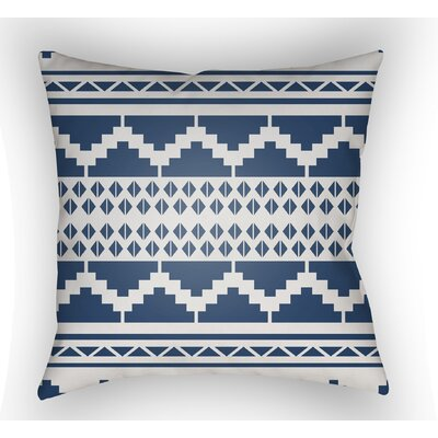 Adamson Geometric Throw Pillow Color: Indigo, Size: 22 H �x 22 W x 4.5 D