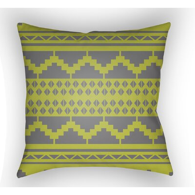 Adamson Geometric Throw Pillow Size: 18 H x 18 W x 3.5 D, Color: Lime