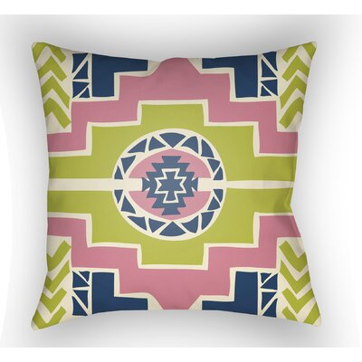 Adamson Indoor Throw Pillow Color: Lime/Pink, Size: 22 H �x 22 W x 5 D