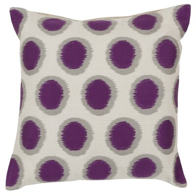 Tory Pretty Polka Dot Linen Throw Pillow Size: 18 H x 18 W x 4 D, Color: Papyrus / African Violet / Blue Corn, Filler: Down
