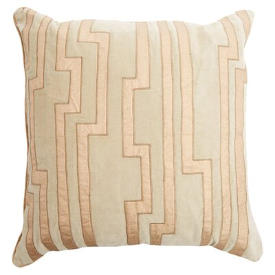 Bornstein Throw Pillow Size: 18 H x 18 W x 4 D, Color: Olive, Filler: Polyester