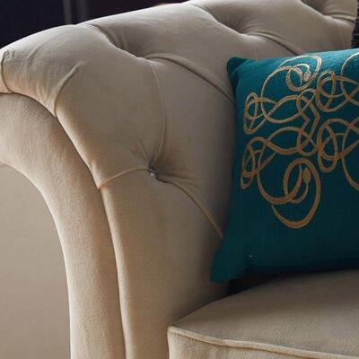 Lumbar Pillow Color: Teal, Filler: Down