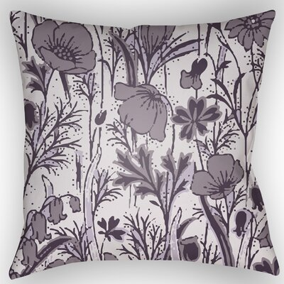Teena Floral Throw Pillow Size: 20 H x 20 W x 4 D, Color: Light Purple