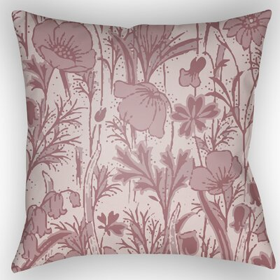 Teena Floral Throw Pillow Color: Pink, Size: 22 H x 22 W x 5 D