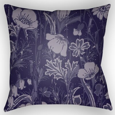 Teena Floral Throw Pillow Size: 20 H x 20 W x 4 D, Color: Dark Plum