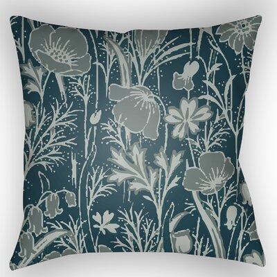 Teena Floral Throw Pillow Size: 18 H x 18 W x 4 D, Color: Dark Teal