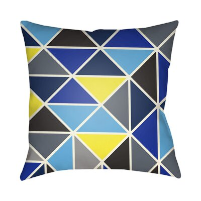 Walpole Geometric Throw Pillow Color: Blue, Size: 20 H x 20 W x 4 D