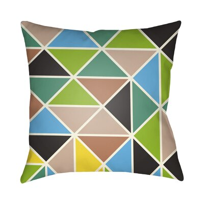 Walpole Geometric Throw Pillow Color: Green, Size: 22 H �x 22 W x 5 D