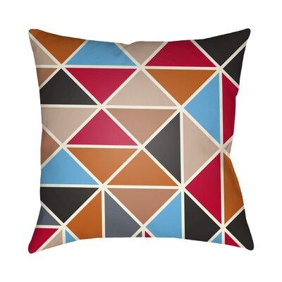 Walpole Geometric Throw Pillow Size: 18 H x 18 W x 4 D, Color: Orange