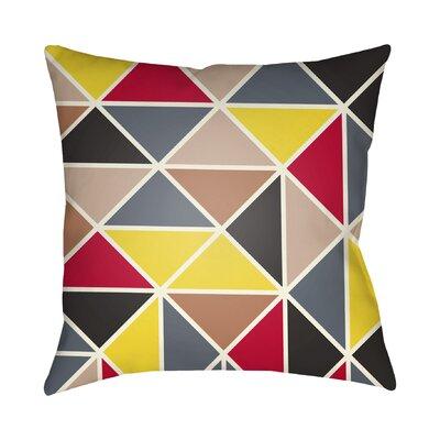 Walpole Geometric Throw Pillow Color: Yellow, Size: 22 H �x 22 W x 5 D