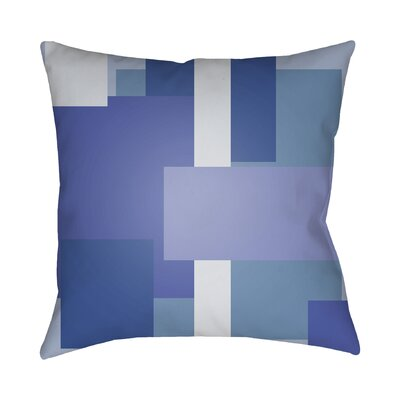 Wakefield Contemporary Geometric Throw Pillow Color: Blue, Size: 22 H �x 22 W x 5 D