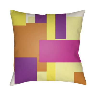 Wakefield Throw Pillow Size: 18 H x 18 W x 4 D, Color: Magenta / Purple / Orange
