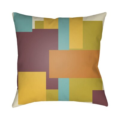 Wakefield Contemporary Geometric Throw Pillow Color: Orange / Yellow / Purple, Size: 22 H �x 22 W x 5 D