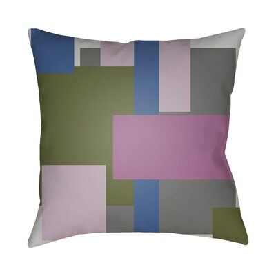 Wakefield Contemporary Geometric Throw Pillow Size: 20 H x 20 W x 4 D, Color: Pink / Olive / Blue