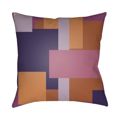 Wakefield Contemporary Geometric Throw Pillow Size: 20 H x 20 W x 4 D, Color: Pink / Orange / Purple