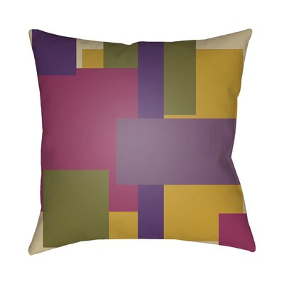 Wakefield Contemporary Geometric Throw Pillow Color: Purple / Olive / Magenta, Size: 22 H �x 22 W x 5 D