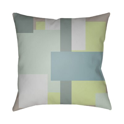 Wakefield Contemporary Geometric Throw Pillow Size: 18 H x 18 W x 4 D, Color: Teal / Grey / Mint