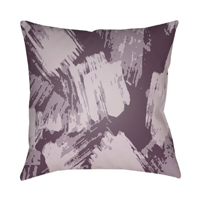 Konnor Indoor Throw Pillow Color: Purple, Size: 22 H x 22 W x 5 D