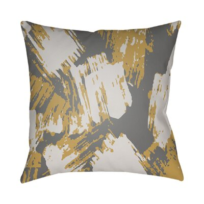Konnor Indoor Throw Pillow Color: Yellow, Size: 22 H x 22 W x 5 D