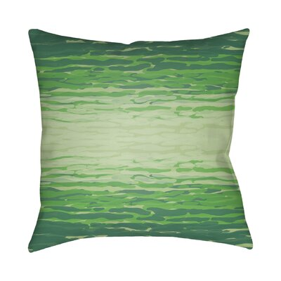 Konnor Throw Pillow III Size: 18 H x 18 W x 4 D, Color: Green