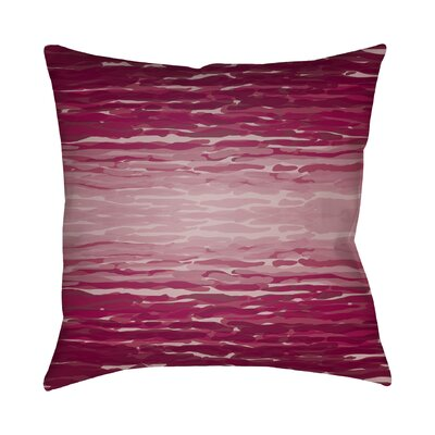 Konnor Throw Pillow III Size: 18 H x 18 W x 4 D, Color: Red