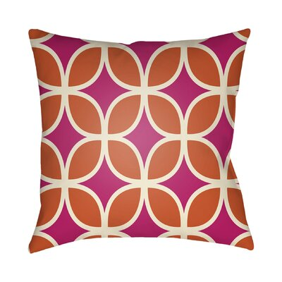 Wakefield Throw Pillow I Color: Magenta, Size: 22 H �x 22 W x 5 D