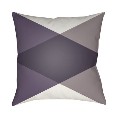 Wakefield Throw Pillow II Size: 18 H x 18 W x 4 D, Color: Eggplant