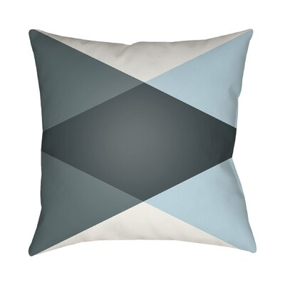 Wakefield Ii Throw Pillow Size: 18 H x 18 W x 4 D, Color: Grey / Light Blue