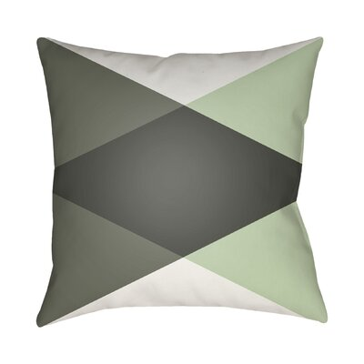 Wakefield Ii Throw Pillow Size: 18 H x 18 W x 4 D, Color: Grey/Mint