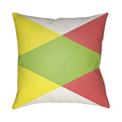 Wakefield Ii Throw Pillow Size: 18 H x 18 W x 4 D, Color: Lime