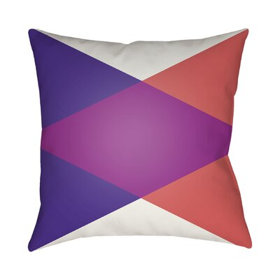 Wakefield Throw Pillow II Color: Magenta, Size: 22 H �x 22 W x 5 D