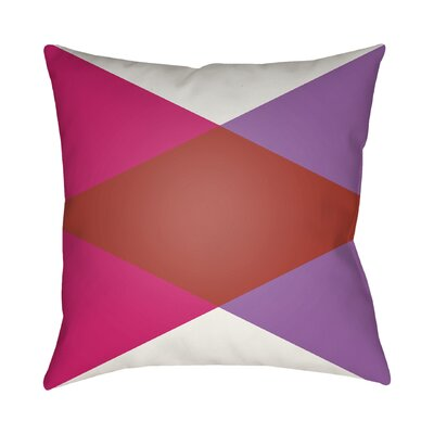 Wakefield Throw Pillow II Size: 18 H x 18 W x 4 D, Color: Red