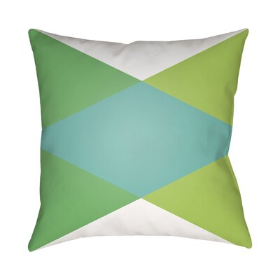 Wakefield Throw Pillow II Size: 18 H x 18 W x 4 D, Color: Turquoise