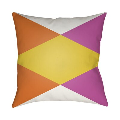 Wakefield Throw Pillow II Color: Yellow, Size: 22 H �x 22 W x 5 D