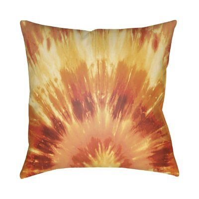 Calila Square Throw Pillow Size: 18 H x 18 W x 4 D, Color: Orange