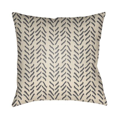 Broadbent Throw Pillow Size: 22 H x 22 W x 4.5 D, Color: Gray