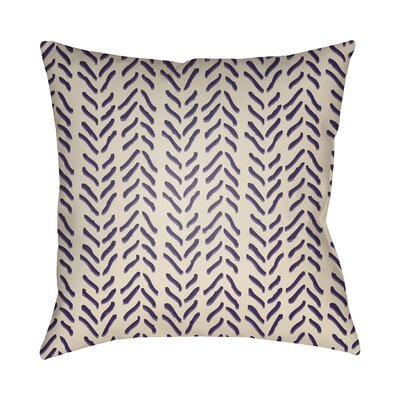 Broadbent Throw Pillow Size: 20 H x 20 W x 3.5 D, Color: Purple