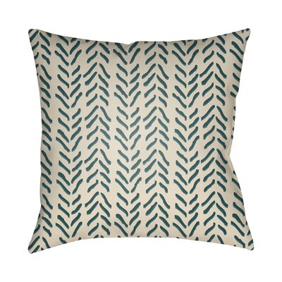 Broadbent Throw Pillow Size: 22 H x 22 W x 4.5 D, Color: Teal