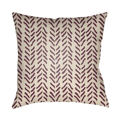 Broadbent Throw Pillow Size: 18 H x 18 W x 3.5 D, Color: Wine