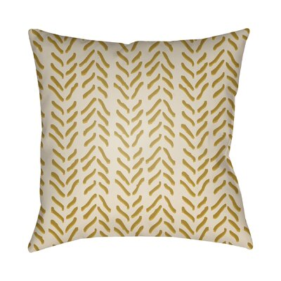 Broadbent Throw Pillow Size: 22 H x 22 W x 4.5 D, Color: Yellow