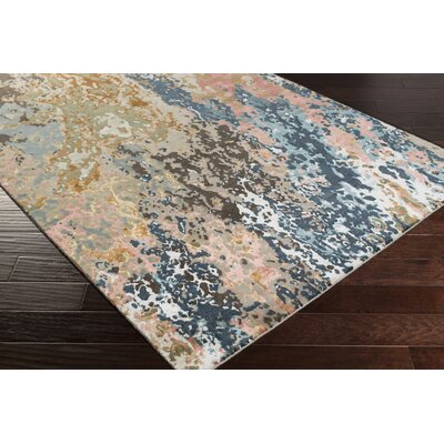 Bovill Knotted Blue/Brown Area Rug Rug Size: Rectangle 4 x 6