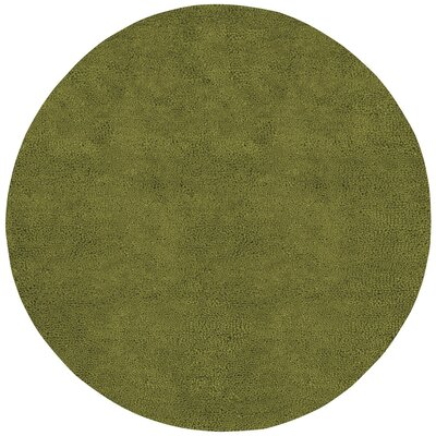 Bonney Hand Woven Wool Green Area Rug Rug Size: Round 10