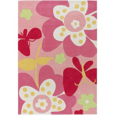 Roxana Baby Pink Area Rug Rug Size: Rectangle 2 x 3